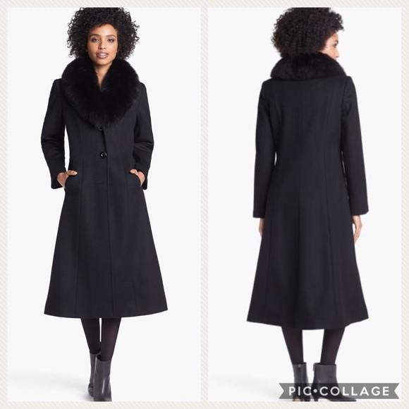 🌟HP! 🧚♀️NWT Fox Fur Trim Coat from Nordstrom